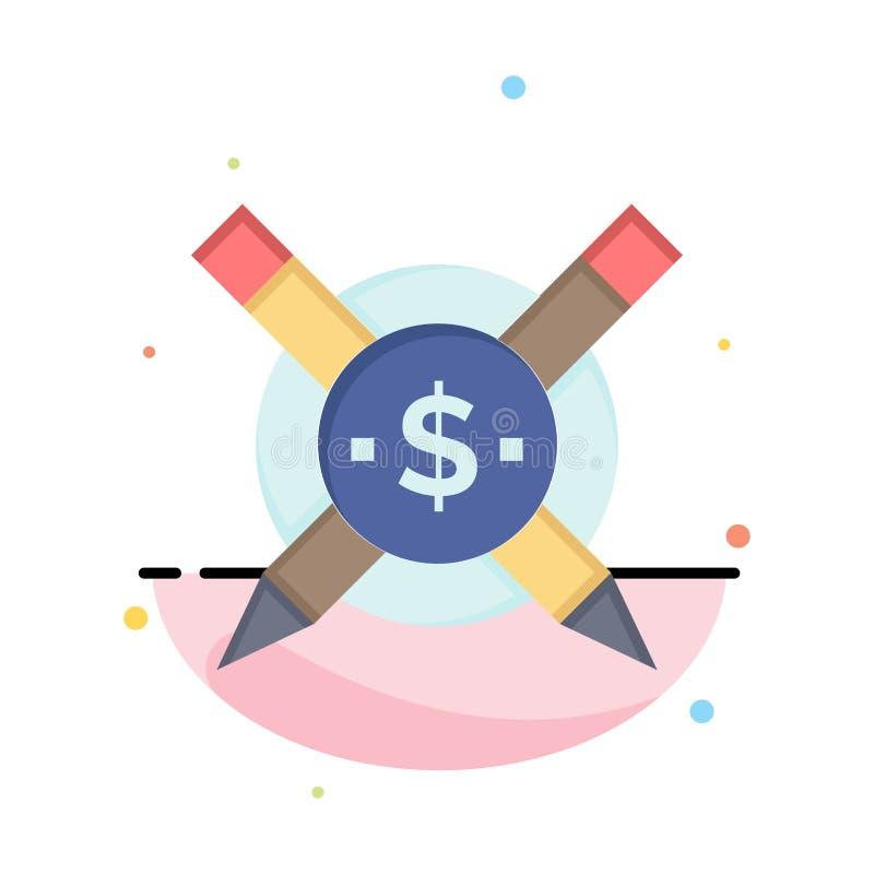 Pago, artigos, artigos pagos, negócio Logo Template de Digitas cor lisa ilustração stock