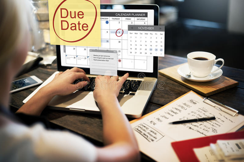 Pago Bill Important Notice Concept del plazo de la fecha debida foto de archivo libre de regalías
