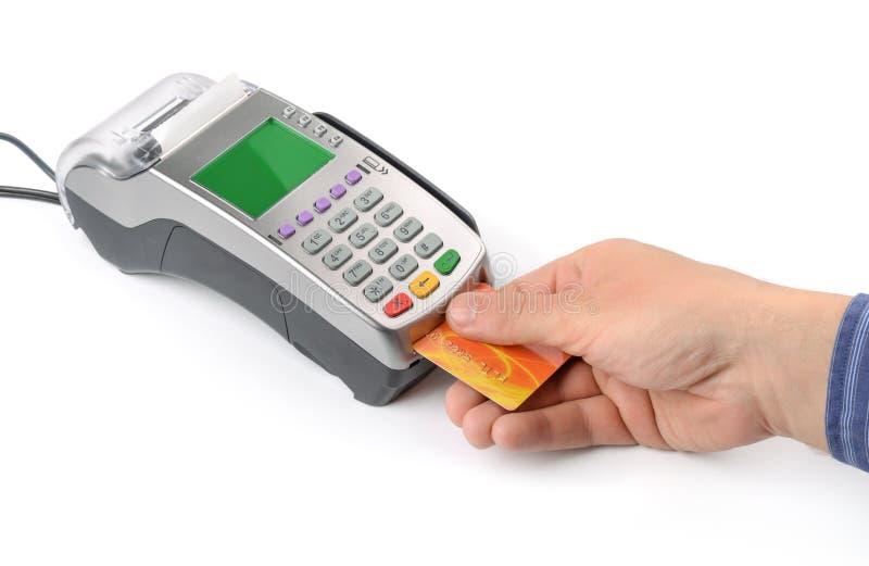 Pago con tarjeta de crédito fotos de archivo libres de regalías