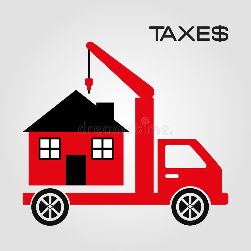 Pago de impuestos ilustración del vector