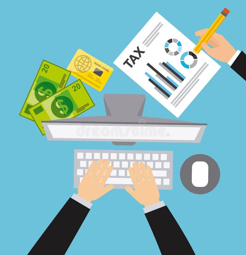 Pago de impuestos stock de ilustración
