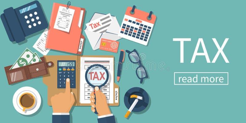 Pago de impuestos Vector libre illustration