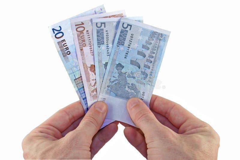 Pago en euros imágenes de archivo libres de regalías