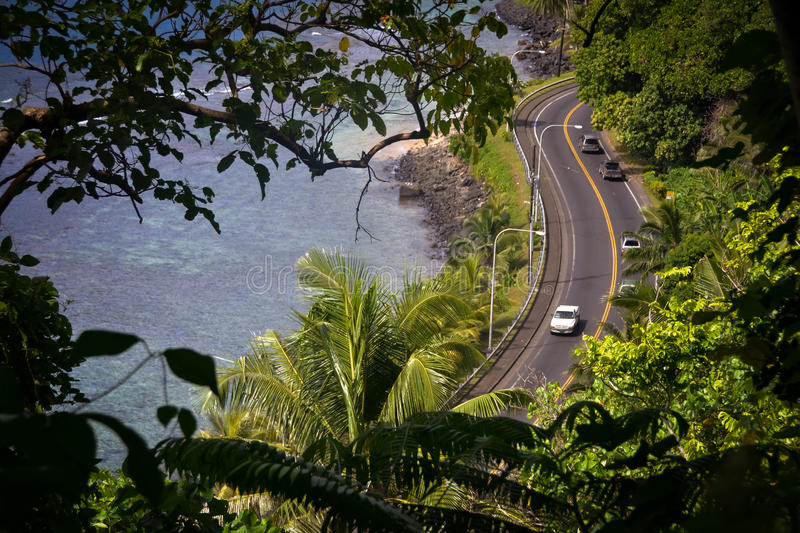 Pago Pago American Samoa photos. This is a shot of the very tropical Pacific Island of American Samoa royalty free stock photo