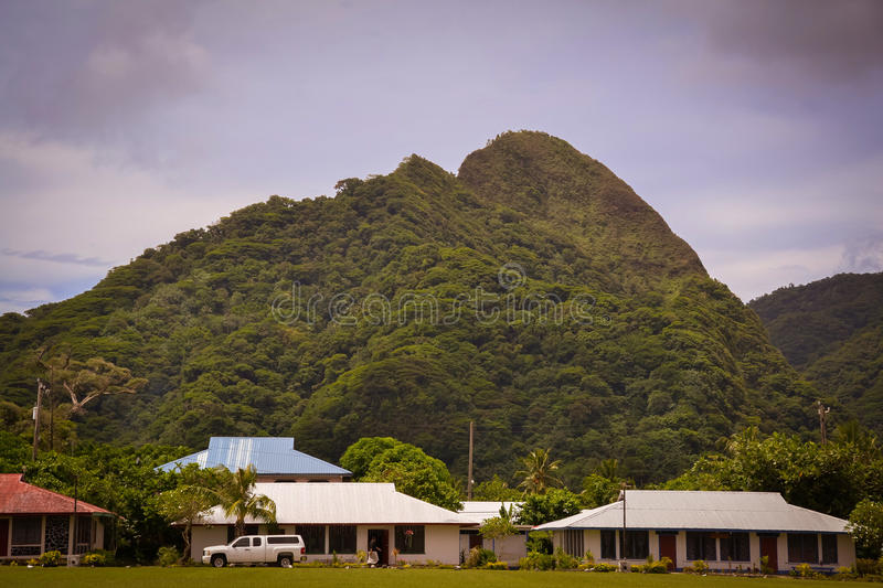 Pago Pago American Samoa photos. This is a shot of the very tropical Pacific Island of American Samoa royalty free stock photography