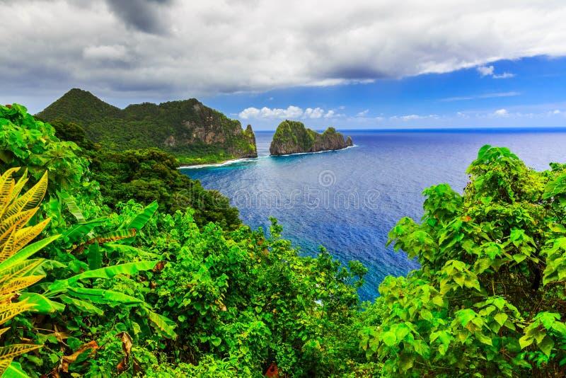 Pago Pago, Samoa américaines image libre de droits