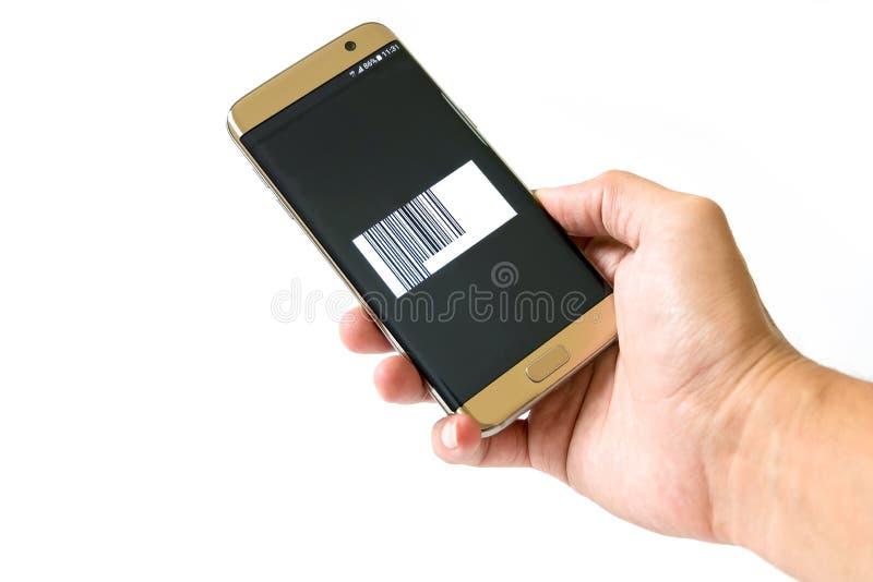 Pago por smartphone imagen de archivo libre de regalías