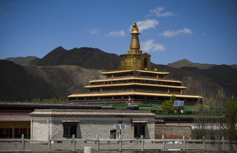 Pagod av Labrang Monastery arkivbild