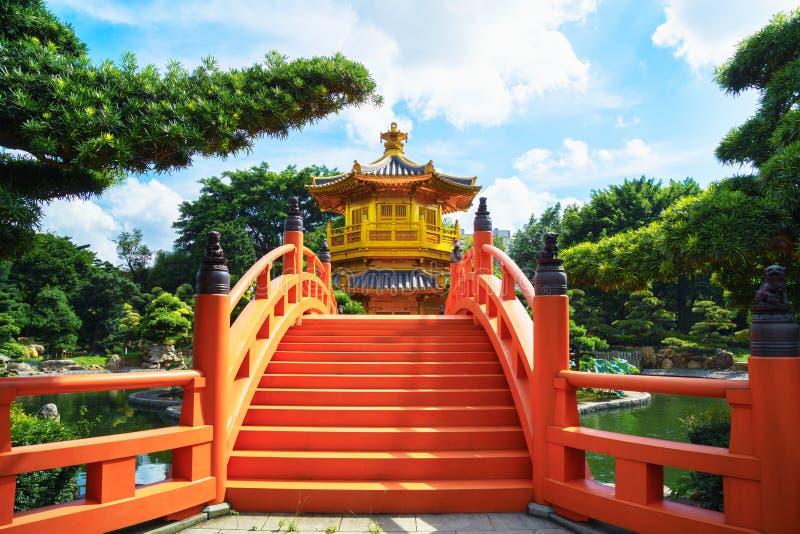 Pagod av Nan den lian trädgården i den Hong Kong staden med härligt royaltyfria bilder