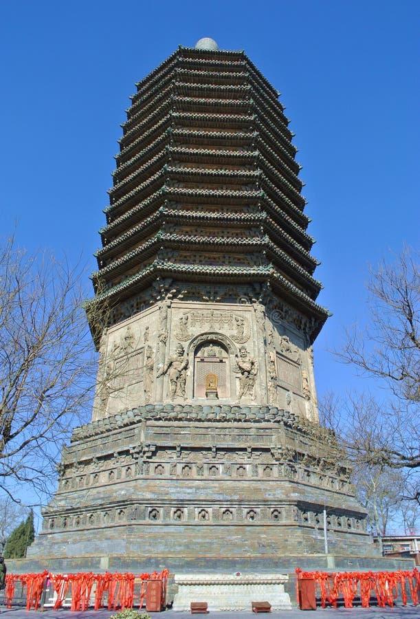 Pagod av templet av himla- lugn arkivbilder