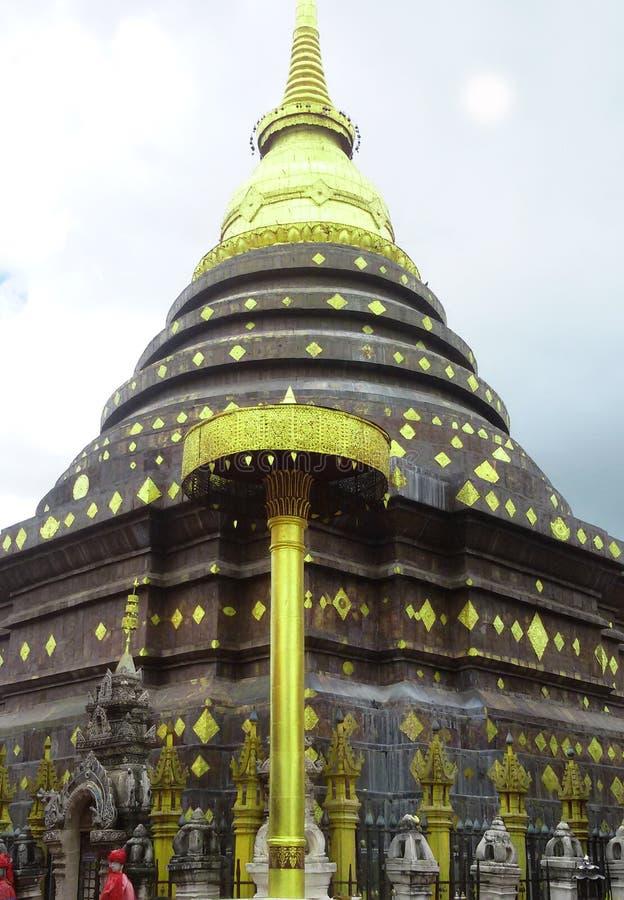 Pagod av templet i lampang, Thailand arkivbild