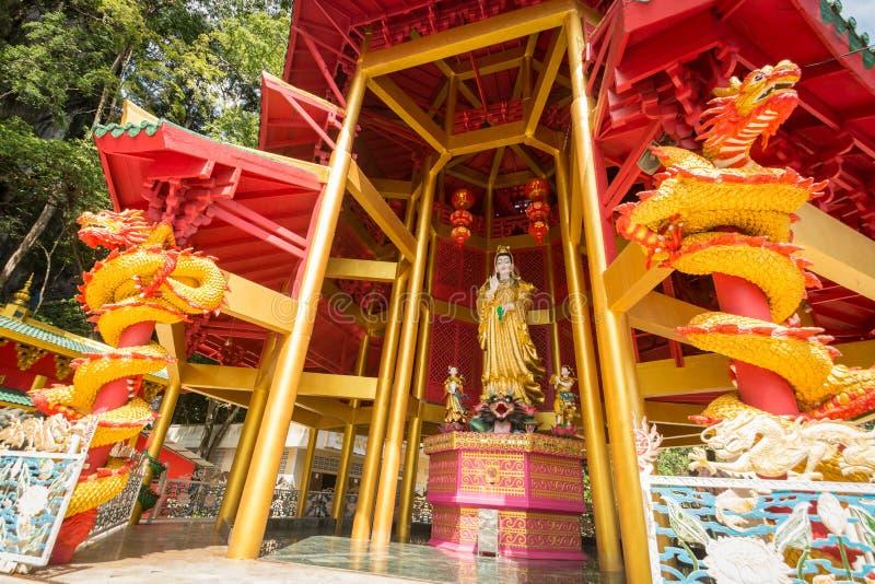 Pagod för kinesisk stil på Tiger Cave Temple krabi thailand arkivbild