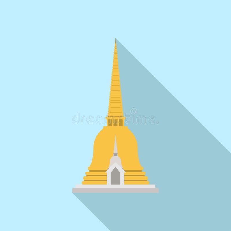 Pagod gillad Thailand klocka som formas royaltyfri illustrationer