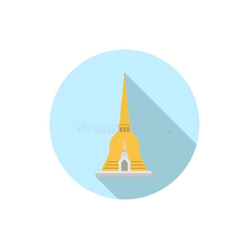 Pagod gillad Thailand klocka som formas vektor illustrationer