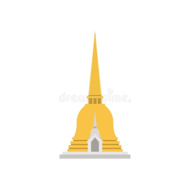 Pagod gillad Thailand klocka som formas stock illustrationer