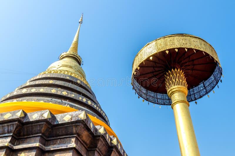 Pagod på Wat Pra That Lampang Luang arkivbild
