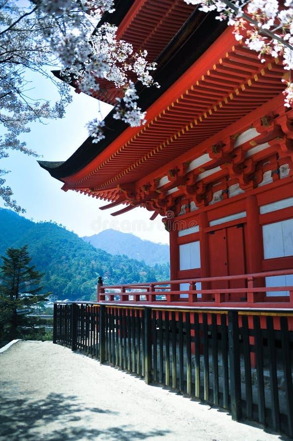 Pagoda à Miyajima image libre de droits