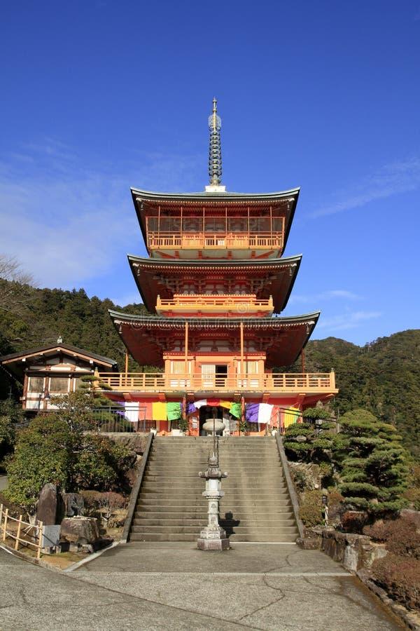 Pagoda à trois niveaux de ji de Seiganto images libres de droits