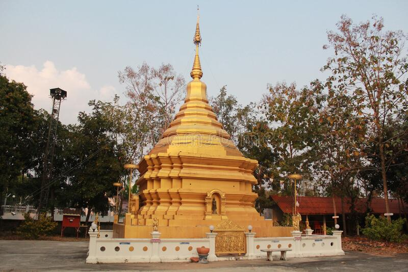 Pagoda and ฺฺBelief. Bhuddha life styles : Pagoda and Belief behind this royalty free stock photo