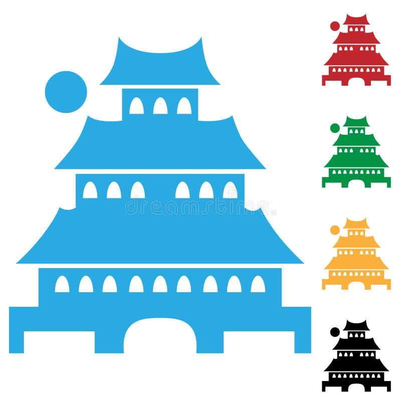 pagoda иллюстрация вектора