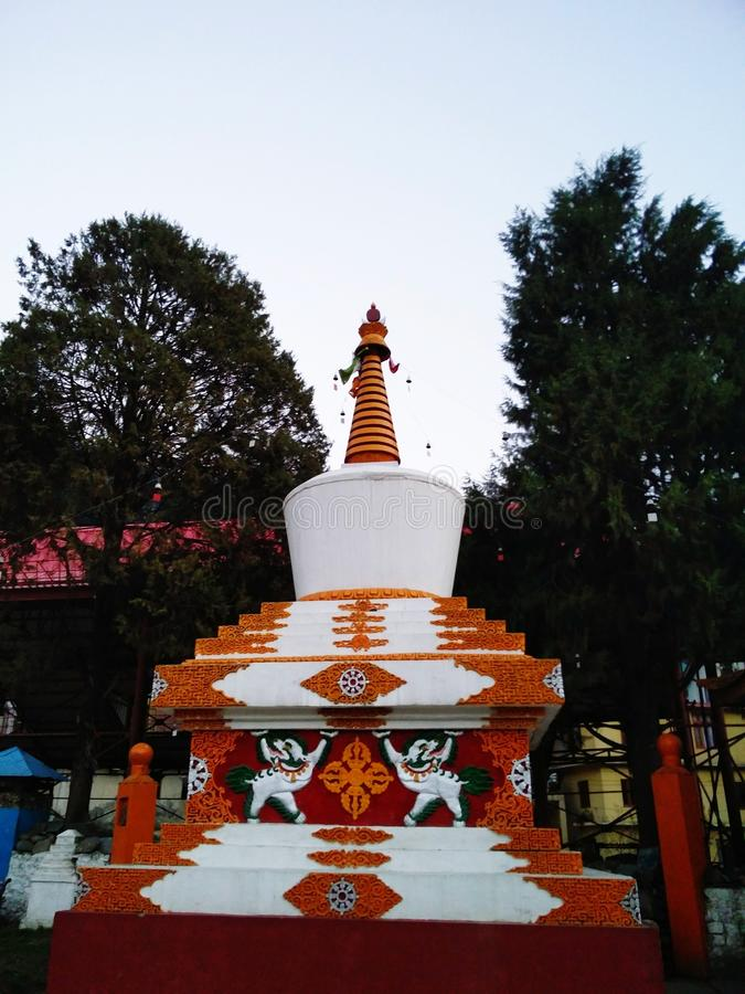 Pagoda. This aesthitic pagoda is situated in the happenly place of manali royalty free stock image