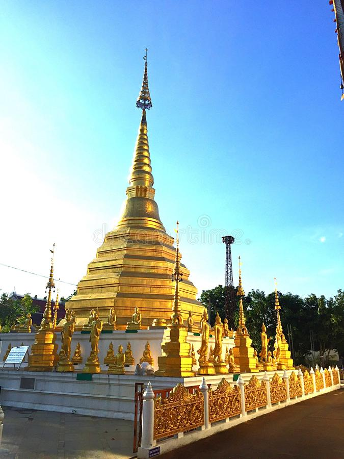 Pagoda. In Amphoe Muang Phrae royalty free stock photo