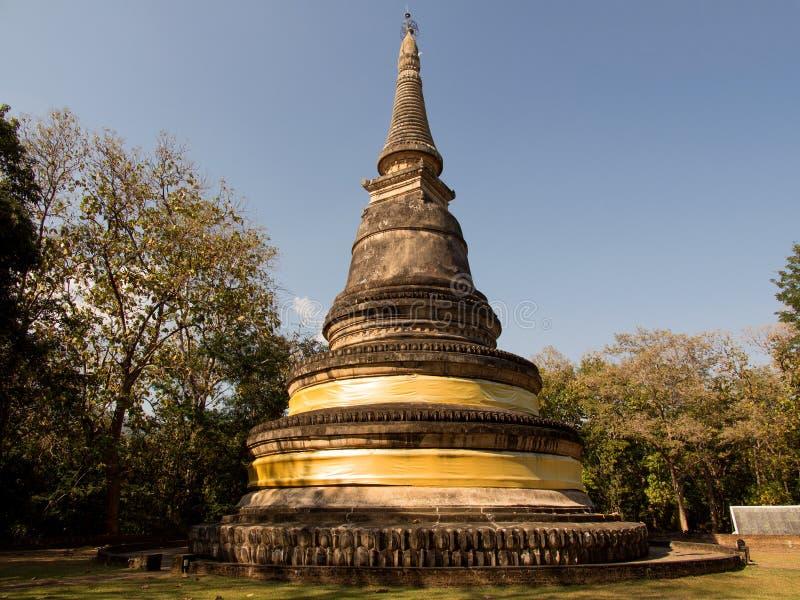 Pagoda antigo Wat UMong Chiangmai, Tailândia imagens de stock royalty free