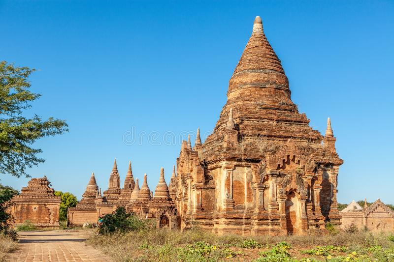 Pagoda antique de temple bouddhiste dans Bagan, Myanmar photo libre de droits