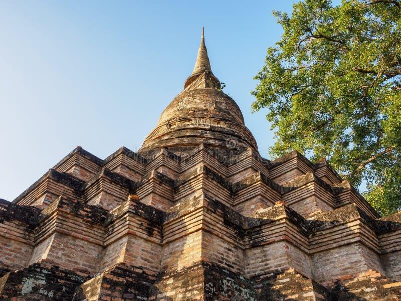 Pagoda Architecture details Sukhothai Historical Park World heritage Thailand. Archeology royalty free stock photos