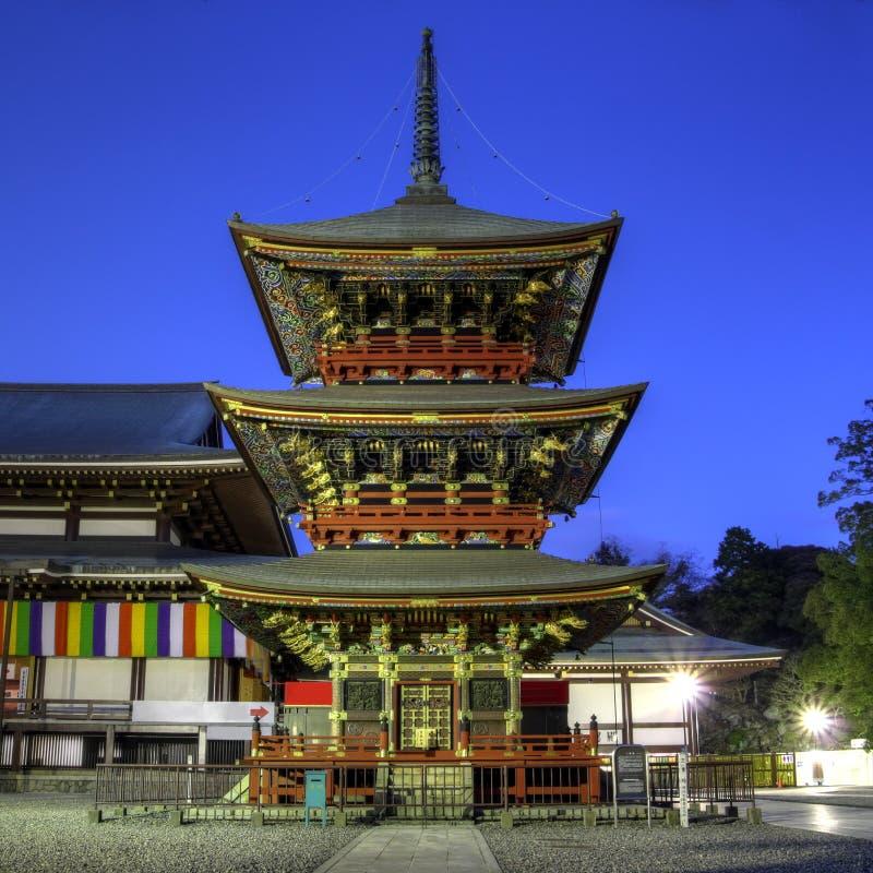 Pagoda au temple de Narita-san près de Tokyo, Japon images libres de droits