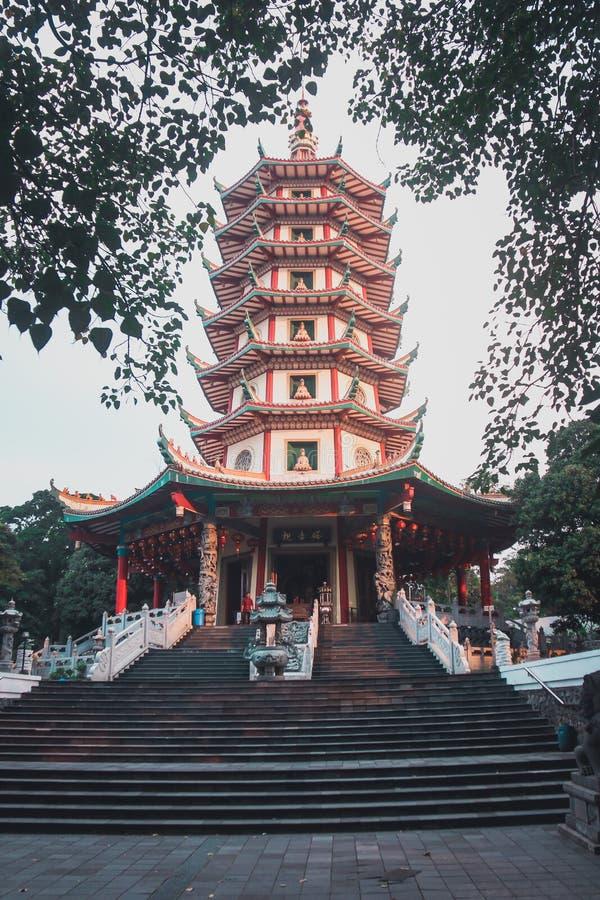 Pagoda Avalokitesvara, Bodh Gaya Watugong images libres de droits