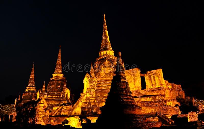Pagoda@Ayudhya Thailand stock afbeelding