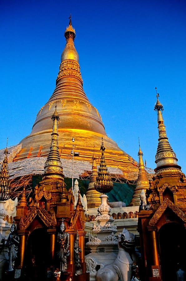 Pagoda Bagan, Birmania (Myanmar) de Schwezigon imagenes de archivo