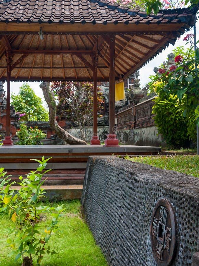 Pagoda in an Balinese garden. An oriental pagoda in bali stock photos