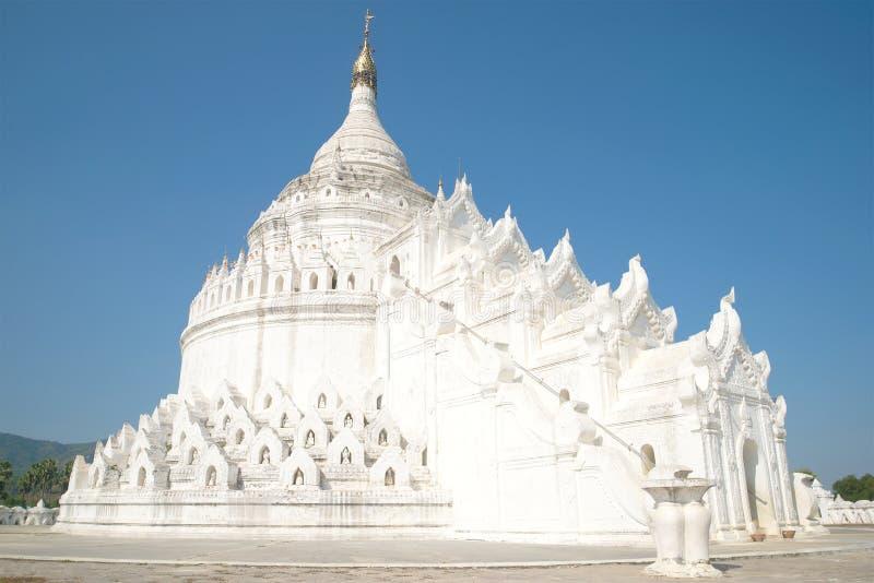 Pagoda blanca de Hsinbyume del stupa Mingun, Myanmar fotografía de archivo