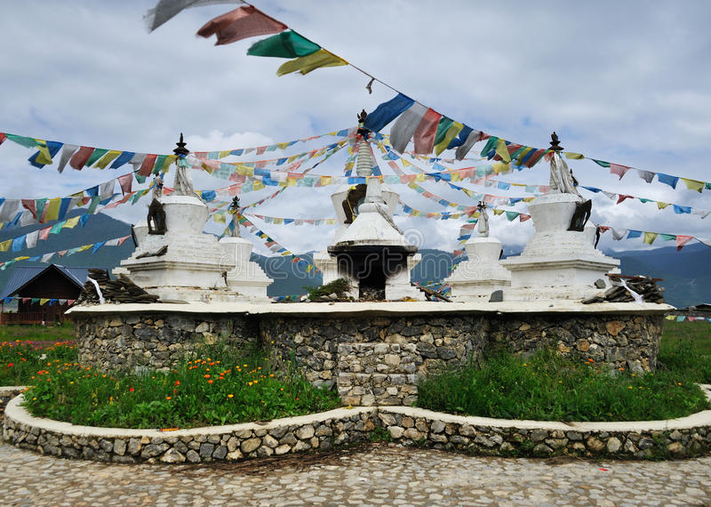 Pagoda blanche Thibet photographie stock libre de droits