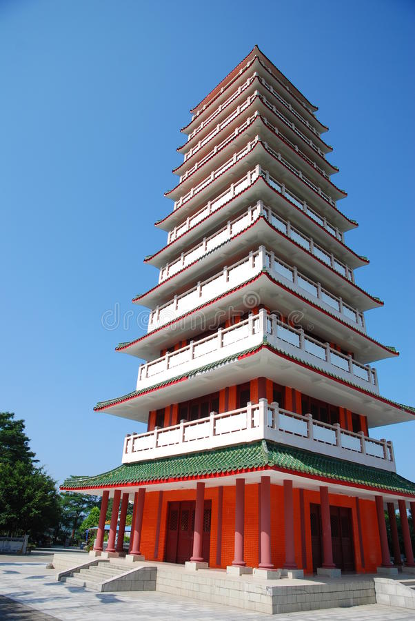 Download Pagoda and blue sky stock image. Image of ecological - 22636525
