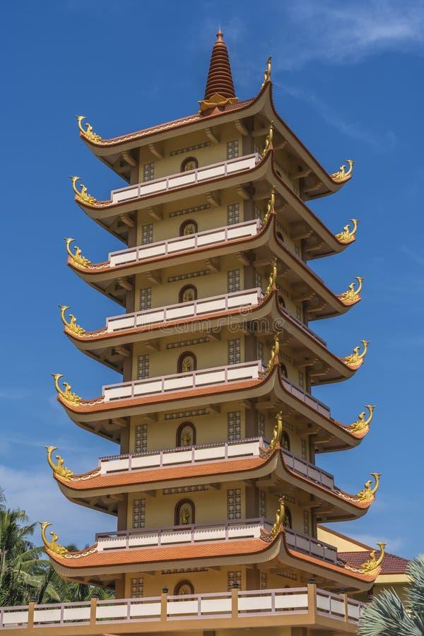 Pagoda bouddhiste où les moines étudient photographie stock