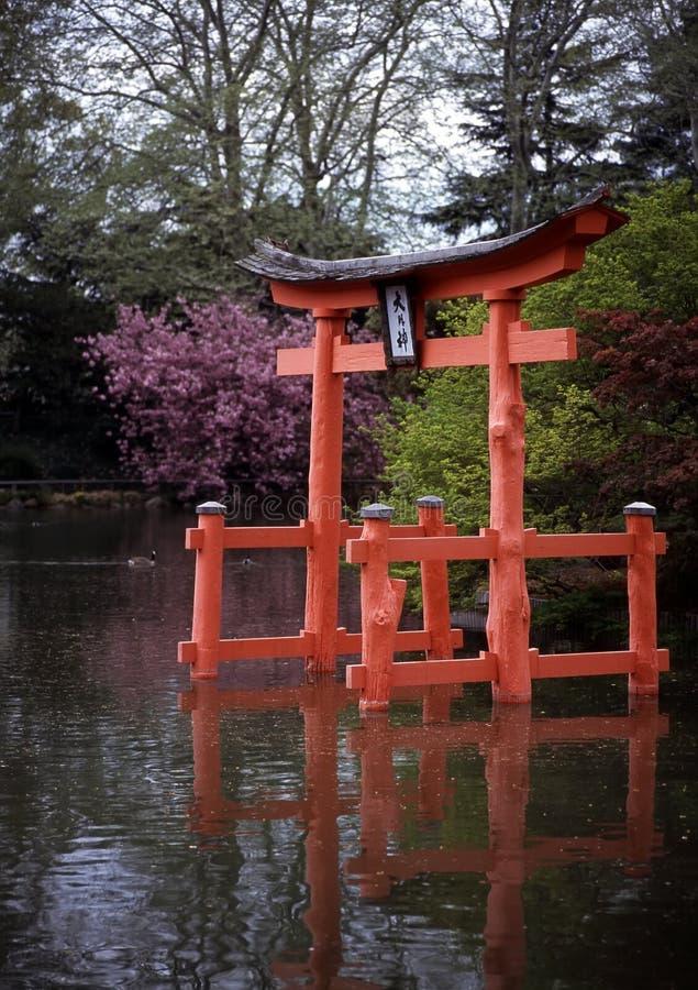Pagoda, Brooklyn Botanic Garden stock images