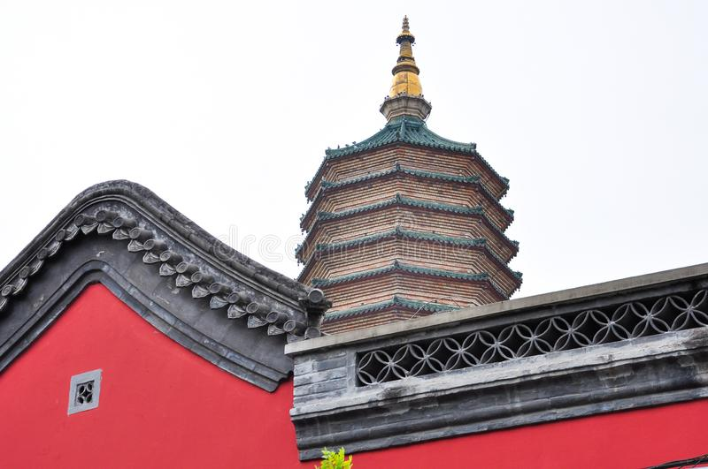 Pagoda for the Buddha relics. Building of temple in beijing royalty free stock photography
