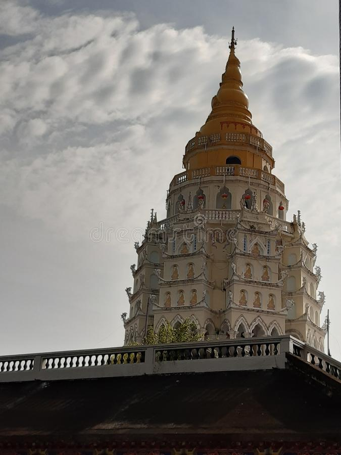 Pagoda Buddhas, Kek Lok Si Penang obraz royalty free