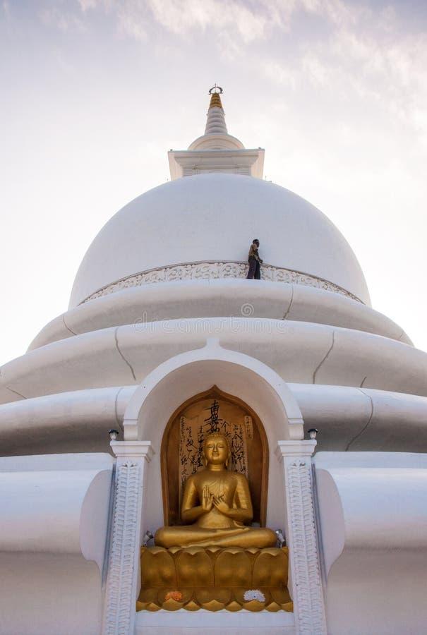 Pagoda buddista di pace, Sri Lanka fotografia stock