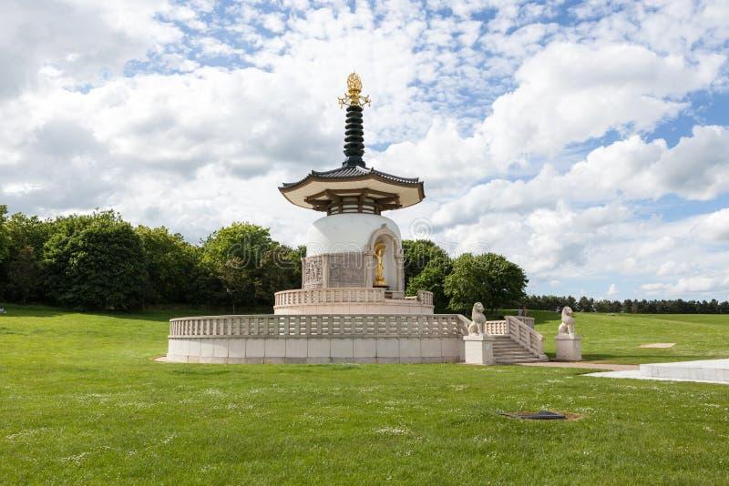 Pagoda buddista giapponese di pace, Giappone Myohoji, Milton Keynes immagine stock libera da diritti