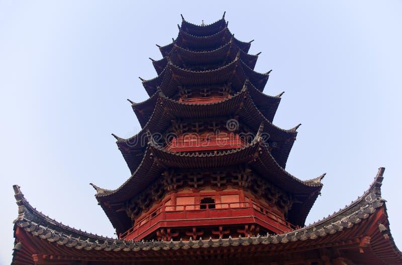 Pagoda chinês antigo Suzhou China de Ruigang fotos de stock