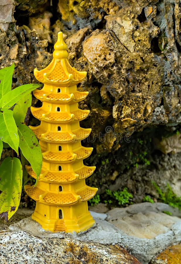 Pagoda Asia. Pagoda of the Chinese Temple Architecture, Vietnam, Asia stock photo