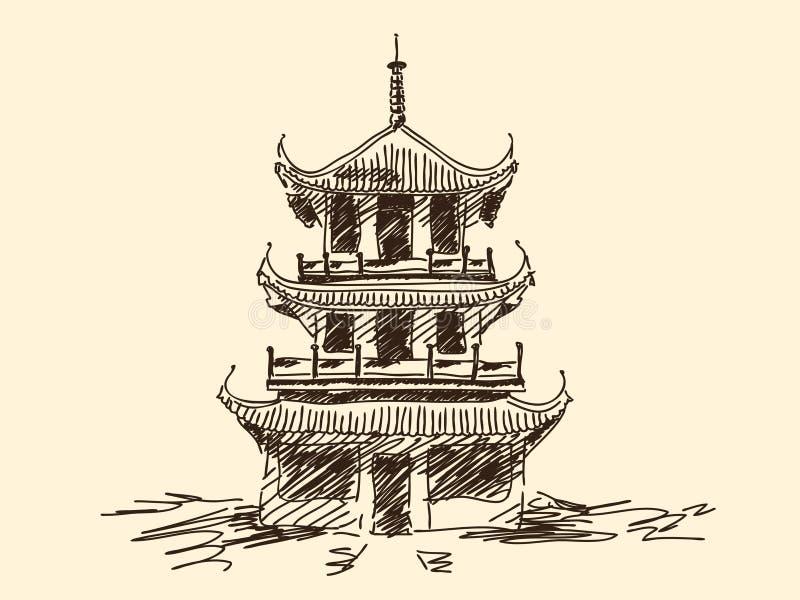 Pagoda chinoise illustration stock