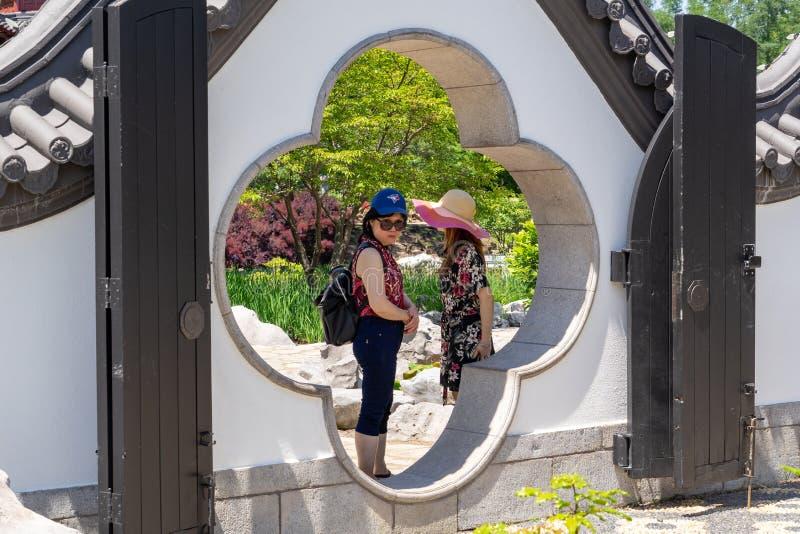 Pagoda chinoise au jardin botanique de Montréal photo libre de droits