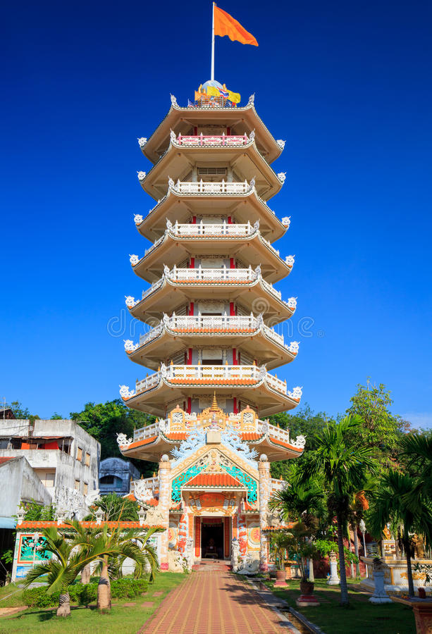 Pagoda chinoise dans Hatyai, Songkhla, Thaïlande image stock
