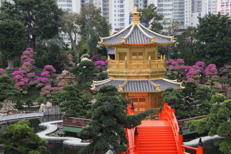 pagoda chinoise de Hong Kong image stock