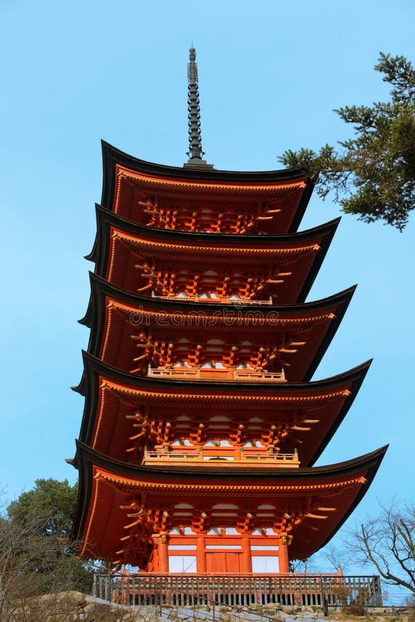 Pagoda cinco contado imagens de stock
